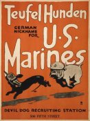 Unknown 20th Century American Artist - Teufel Hunden, German Nickname for U.S. Marines, 1917