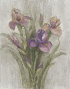 Albena Hristova - Purple Iris Garden on Grey