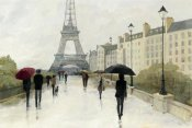 Avery Tillmon - Eiffel in the Rain Marsala Umbrella
