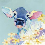 Avery Tillmon - Bessie with Flowers on Teal