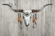 Avery Tillmon - Longhorn on Wood