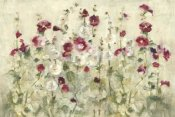 Cheri Blum - Hollyhocks Row Cool