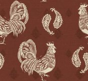 Daphne Brissonnet - Woodcut Rooster Patterns