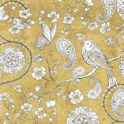 Daphne Brissonnet - Color my World Bird Paisley I Gold
