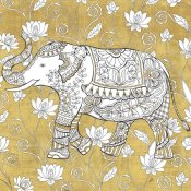 Daphne Brissonnet - Color my World Elephant II Gold