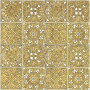 Daphne Brissonnet - Color my World Mexican Tiles Pattern Gold