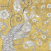 Daphne Brissonnet - Color my World Ornate Peacock I Gold