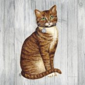 David Carter Brown - Country Kitty IV on Wood