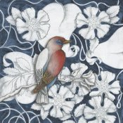 Elyse DeNeige - Arts and Crafts Bird Indigo I