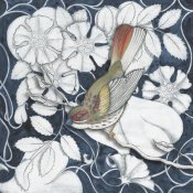Elyse DeNeige - Arts and Crafts Bird Indigo II