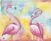 Elyse DeNeige - Bright Flamingos II