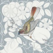 Elyse DeNeige - Arts and Crafts Birds II Tone on Tone