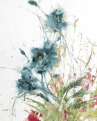 Jan Griggs - Flora Blue Crop on White