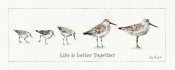 Lisa Audit - Pebbles and Sandpipers I