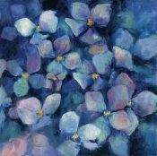 Marilyn Hageman - Midnight Blue Hydrangeas with Gold