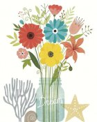 Michael Mullan - Seaside Bouquet III Mason Jar