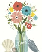 Michael Mullan - Seaside Bouquet II Mason Jar