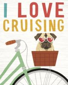 Michael Mullan - Beach Bums Pug Bicycle I Love