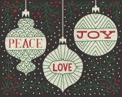 Michael Mullan - Jolly Holiday Ornaments Peace Love Joy