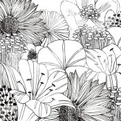 Michael Mullan - Contemporary Garden I Black and White