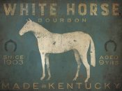 Ryan Fowler - White Horse with Words Blue