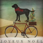 Ryan Fowler - Black Lab on Bike Christmas