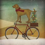 Ryan Fowler - Yellow Lab on Bike Christmas
