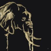 Chris Paschke - Gilded Elephant on Black