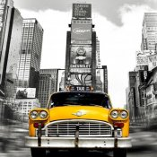 Julian Lauren - Vintage Taxi in Times Square, NYC (detail)