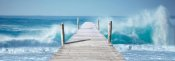 Pangea Images - Ocean Waves on a Jetty