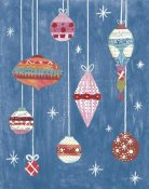 Courtney Prahl - Retro Ornament II Blue