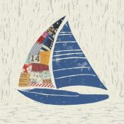 Courtney Prahl - Nautical Collage IV on Linen
