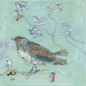 Kellie Day - Aqua Bird with Teal
