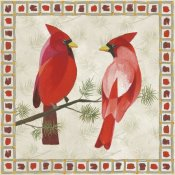 Danhui Nai - Festive Birds Two Cardinals