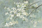 Danhui Nai - Dogwood in Spring on Blue