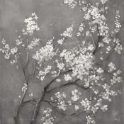 Danhui Nai - White Cherry Blossoms I on Grey Crop