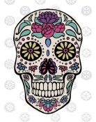 Janelle Penner - Sugar Skull III on Gray