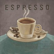 Janelle Penner - Coffee and Co III Teal and Gray