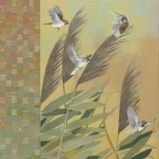 Kathrine Lovell - Sparrows and Phragmates August Evening
