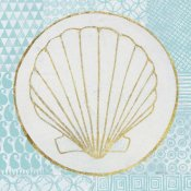 Kathrine Lovell - Summer Shells II Teal and Gold