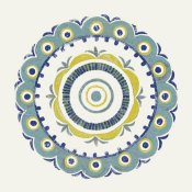 Kathrine Lovell - Lakai Circle II Blue and Yellow