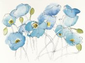 Shirley Novak - Black Line Poppies III Watercolor