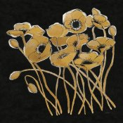 Shirley Novak - Gold Black Line Poppies I v2