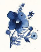 Shirley Novak - Independent Blooms Blue I