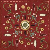 Anne Tavoletti - Festive Tiles IV Red WAL - PILLOW