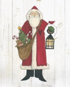 Anne Tavoletti - Vintage St Nick I no Words on White Wood