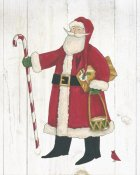 Anne Tavoletti - Vintage St Nick II no Words on White Wood