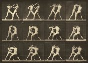 Eadweard J. Muybridge - Motion Study: Men Fighting