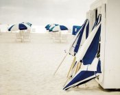 Brookview Studio - Blue and White Beach Umbrellas
