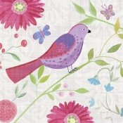 Farida Zaman - Damask Floral and Bird I Sq